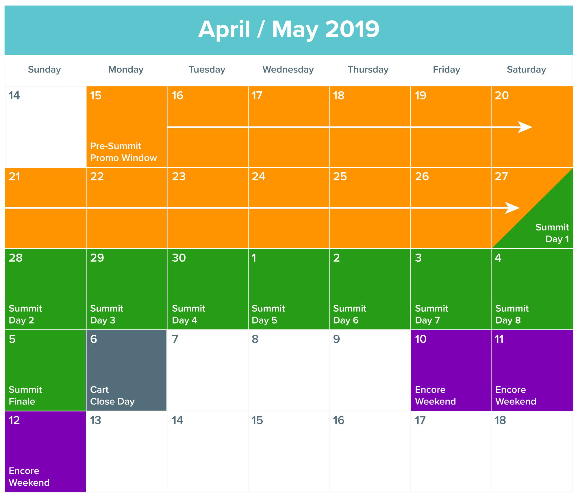 2019 Food Revolution Summit promo calendar