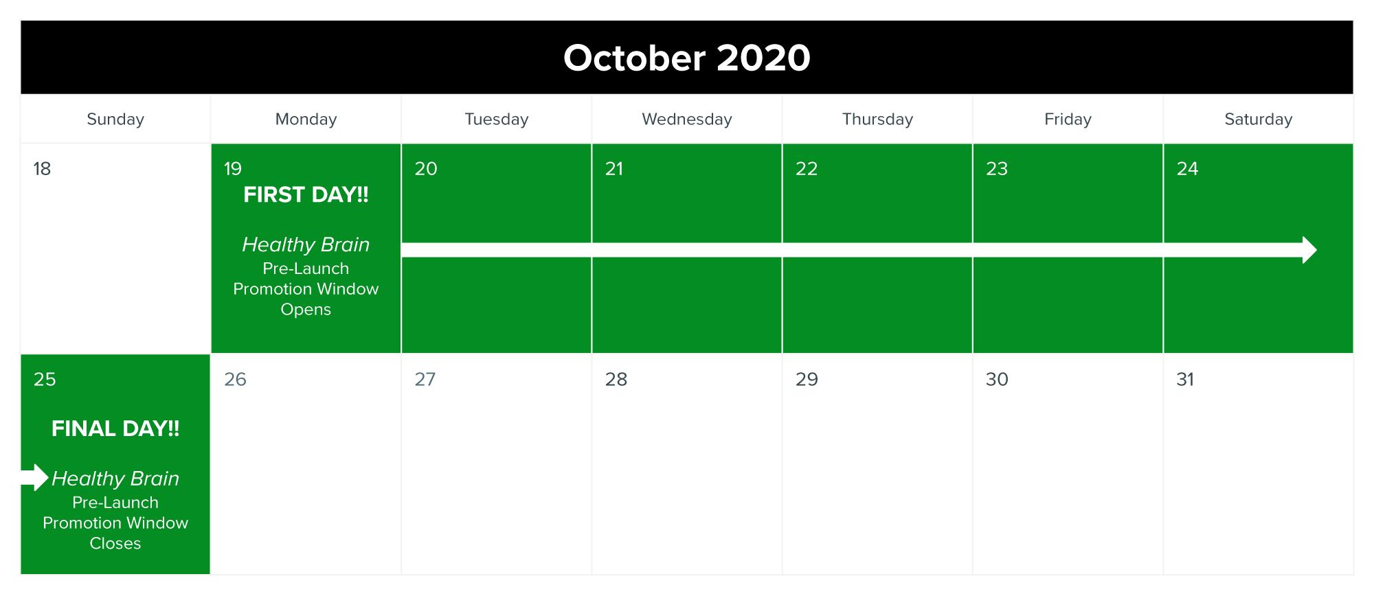 2020 HBC promo calendar